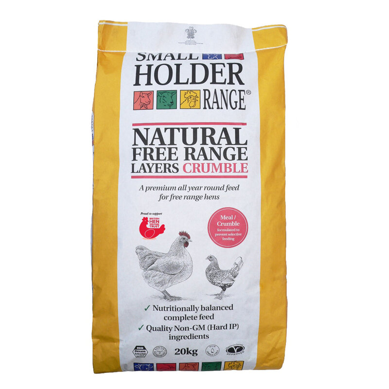 Allen & Page Small Holder Range Natural Free Range Layers Crumble 20kg