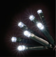 100 LED COOL WHITE LIGHTS CONNECTABLE 10M MAINS