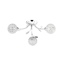 Bellis Ii Chrome 3 Light Fitting With Clear Glass Shades