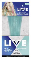 LIVE Colour Wild Wefts Clip In Strand Aquamarine 45cm