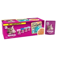 Whiskas 1+ Pouch Pure Delights Fish Selection in Jelly Mega Pack 85g x 40