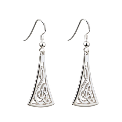 S/S LONG CELTIC DROP EARRINGS(BOXED)