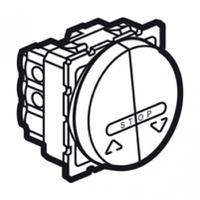 Arteor Double Push For Electronic Roller Shutter Blinds - White  | LV0501.2580