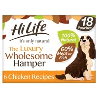 HiLife 'ION' Dog Pouch The Wholesome Hamper 18pk x 2