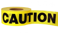 Barrier Tape Caution Yel/Blk 300m