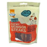 Good Boy Pawsley & Co. Dog Treats - Chewy Venison Steaks 90g x 10