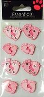 Baby Feet Pink Essential Craft Sticker.