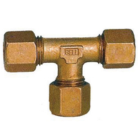 8mm T Piece Steel Compression Fittings