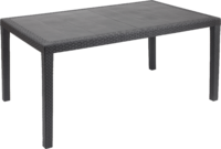 Prince Rattan Effect Rectangular Table Anthracite