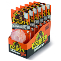 Gorilla Mounting Tape 1.5m Clear 6pce