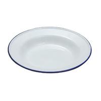 Falcon 24cm Enamel Soup Plate, white