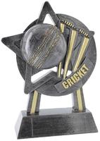 18cm Star Cricket Award (Ant Silver & Gold)