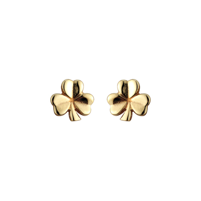 14K SHAMROCK STUD SMALL 11 MM POST