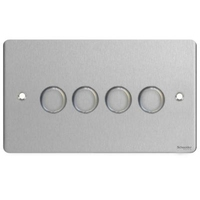 Flat Plate Stainless Steel DIMMER  4 Gang 2way| LV0701.0559
