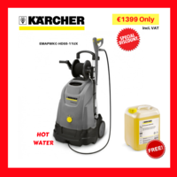 KARCHER UPRIGHT HOT WATER PRESSURE WASHER HDS 5-11 UX FLOW RATE 450 I/H OPERATING PRESSURE 110 BAR CONNECTED LOAD 2.2KW WEIGHT 68KG