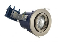 Adjustable 240V GU10 Fire Rated Downlight Satin Chrome