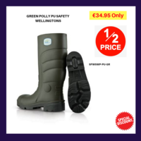 GREEN POLLY PU SAFETY WELLINGTONS
