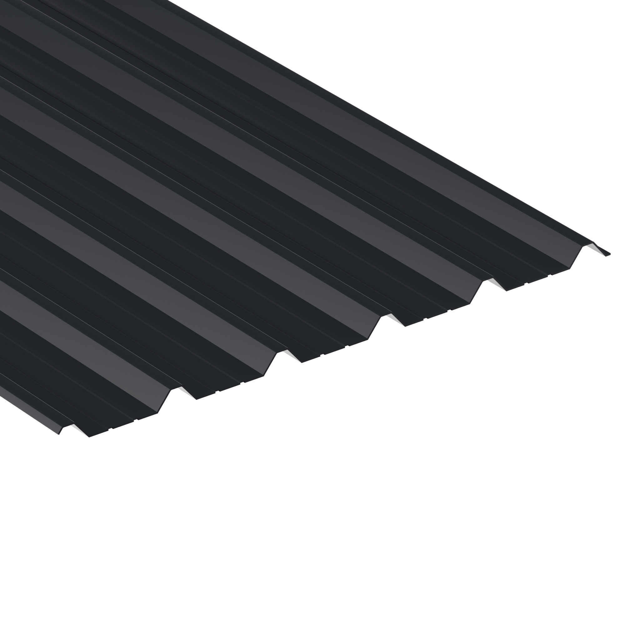 Anthracite Grey Polyester coated box profile