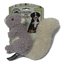 Country Pet Puppy Toy - Squirrel x 1