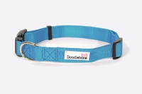 Doodlebone Adjustable Bold Collar Small - Blue x 1