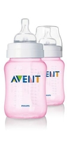 Avent 9Oz Bottle Pink Twin Pack