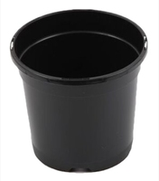 Aeroplas Round Slotted Pot 1lt - Black