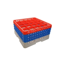 Glass Rack 25 Compartment with 4 Red Extenders