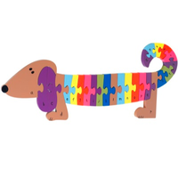 Wooden Jigsaw - Alphabet Dog Puzzle