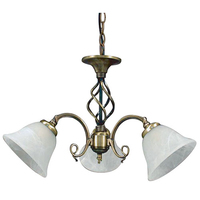 Beckworth 3 Light Semi Flush Antique Brass Fitting