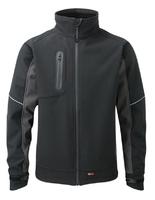 "TuffStuff Stanton Softshell Jacket Black/Grey XX Large (52-54"")"
