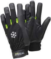 Synthetic Leather Winter-Lined Waterproof Glove