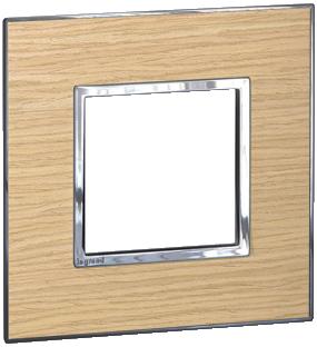 Arteor (British Standard) Plate 2 Module 1 Gang Square Light Oak   LV0501.2714