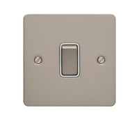Flat Plate PN 16AX 1G 2 Way Switch WHITE   LV0701.0153