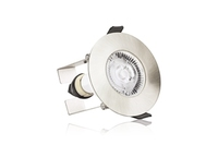 EvoFire 70mm cut-out IP65 Fire Rated Static Downlight Round Satin Nickel