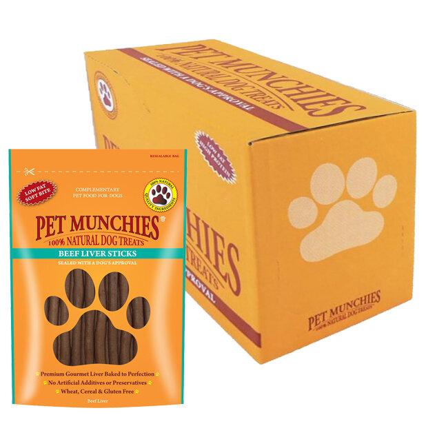 Pet Munchies Beef Liver Sticks 8 x 90g