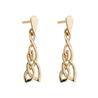 9K GOLD CELTIC KNOT EARRINGS