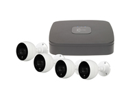 IC Realtime Wave 4 Channel 1TB DVR with 4 x C2Max 4MP 2.8mm White IR/PIR Bullet Cameras