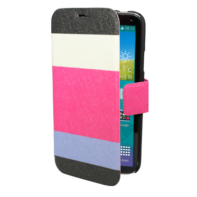 FOLIO1048 Galaxy S5 Cream Pink Lilac