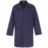 Supertouch Polycotton Lab Coat, Navy