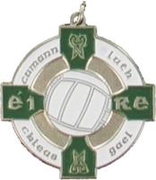 34mm Gaelic Football Medal -(Silver / Green)