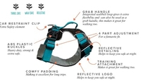 Sotnos Triple Safety Travel Harness Teal Large x 1