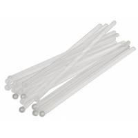"""Flat Ball 6"""" Clear Stirrers. Pack of 1,000"""