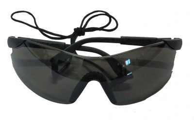 Power Tinted Safety Specs with Neck Cord