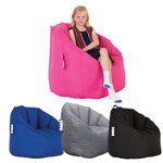 Snug Milano Bean Chair with girl sitting on it
