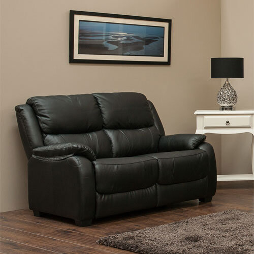 Parker 2 Seater Leather Fixed