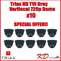 Triax Varifocal 720p TVI Dome  Grey X 10