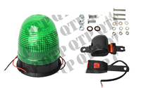 Beacon 3 Bolt Green With Seat Belt Domed