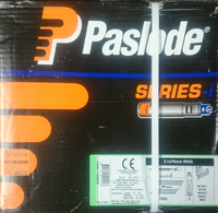 PASLODE NFP 3.1X75MM RING BRIGHT NAILS BOX 2,500 & 2 FUEL CELLS (142029)
