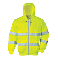 Portwest Hi-Visibility Zip Front Hoodie Hi-Vis Yellow