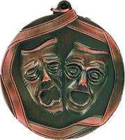 60mm Drama Medallion (Antique Bronze)